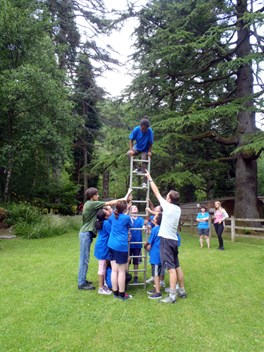 Problem solving challenges outdoors Snowdonia