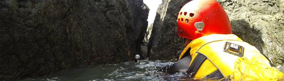 Coasteering adventure activity in North Wales