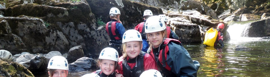 Gorge walking adventure activity Snowdonia