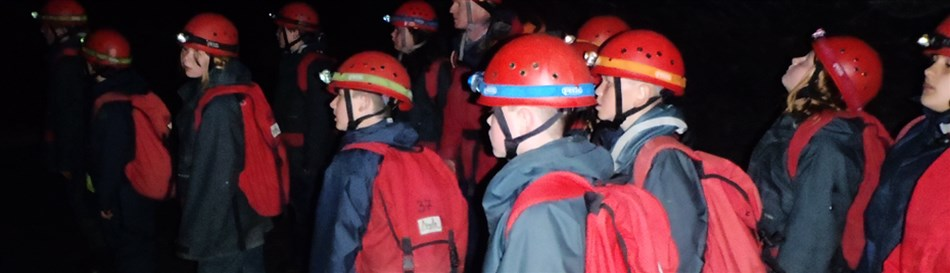 Exploring underground mines in Snowdonia for groups