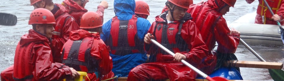 Raft building outdoor challenge Snowdonia
